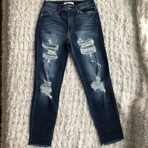 KanCan | High-Rise Distressed Skinny Jeans